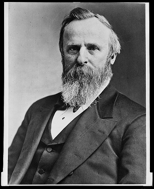 [President Rutherford B. Hayes, half-length portrait, seated, facing left]