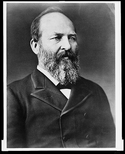 [President James A. Garfield, half-length portrait, facing right]