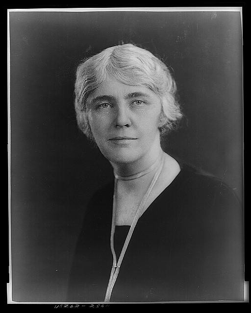 [Mrs. Herbert Hoover, three-quarter length portrait, seated, facing front]