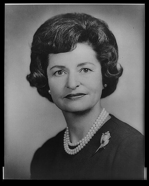 [Mrs. Lyndon Baines Johnson, bust portrait, facing front]