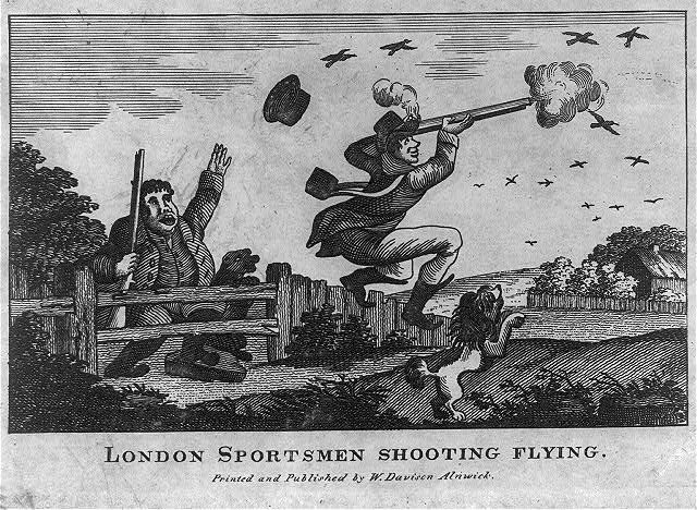 London sportsmen shooting flying