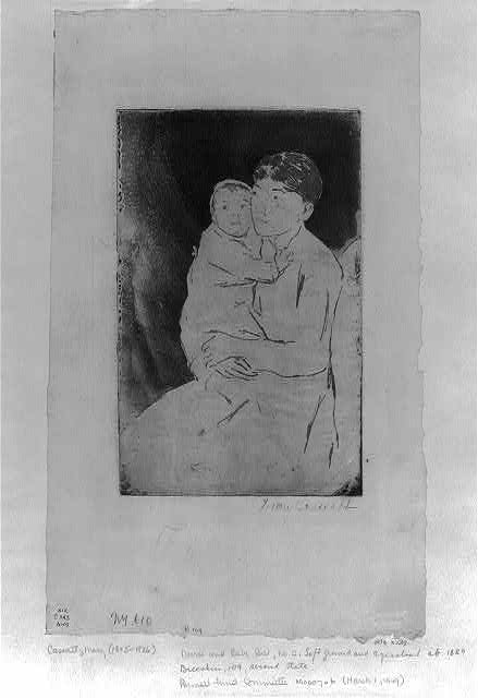 Nurse and baby Bill, no. 2 / Mary Cassatt