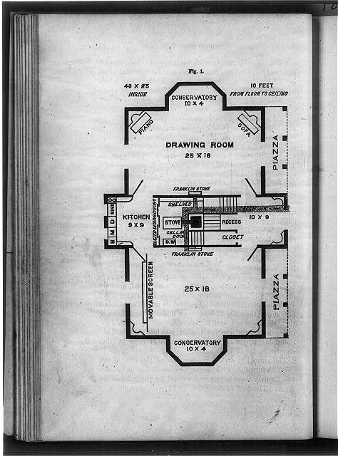 [Floor plan of first floor of home]