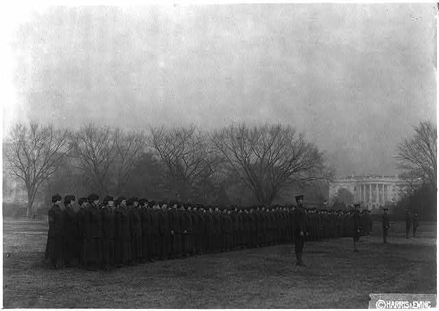 """Marinettes"" on White House lawn"
