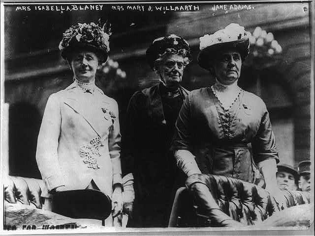Suffragettes - U.S.: Mrs. Charles D. [Isabella] Blaney, Mrs. Willmarth, Miss Adams, delegates from Calif. to the Republican Convention