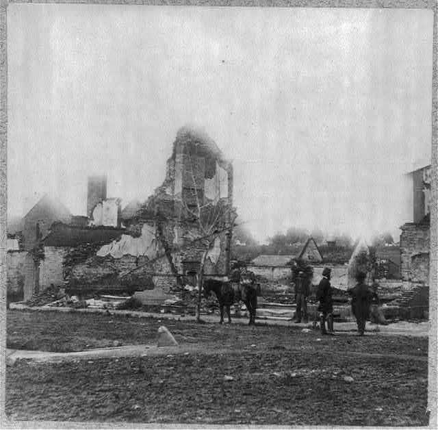 Views in Fredericksburg, Va., showing destruction of houses by bombardment on Dec. 13, 1862