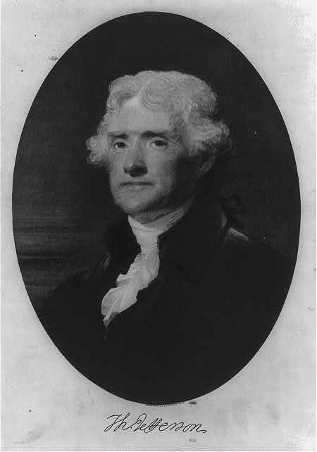 [Thomas Jefferson, bust portrait, facing left]