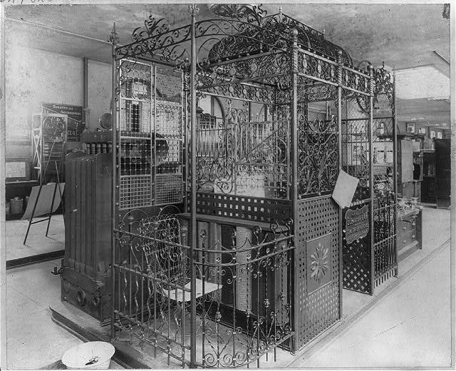 Elevator car made by Edw. Darby & Sons, Phila., Pa.