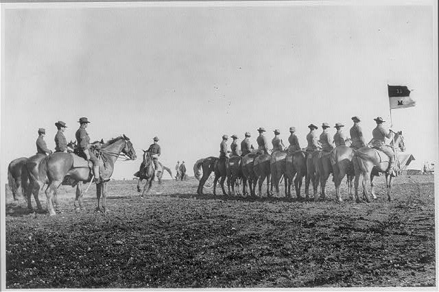Fort Sam Houston, Tex., 1911-1912: Co. M, 11th Cavalry; lined up
