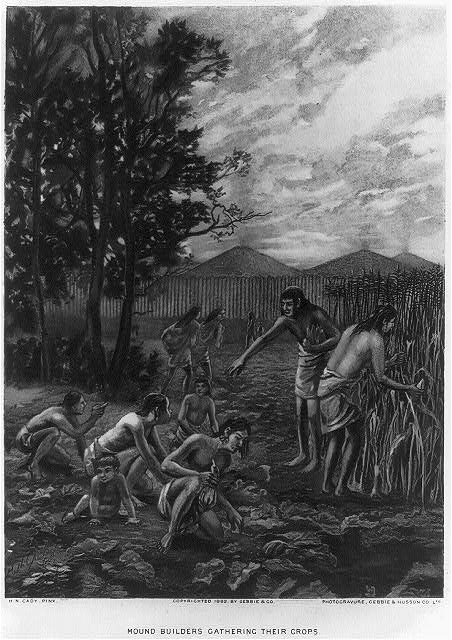 Mound Builders Gathering Their Crops