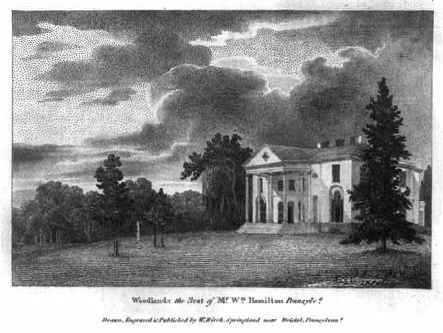 Woodlands, the seat of Mr. Wm. Hamilton, Pennsylv.