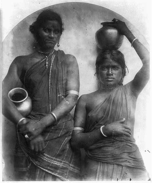[Two Ceylonese women with water jars]