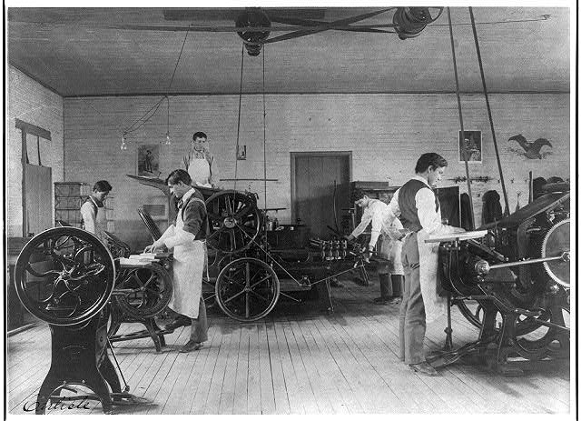 [Printing press room, Carlisle Indian School, Carlisle, Pennsylvania]