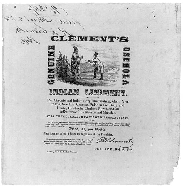 Clement's Genuine Osceola Indian Liniment