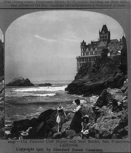 The Famous Cliff House and Seal Rocks, San Francisco, Calif.