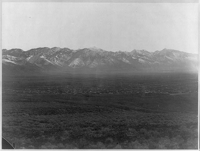 Salt Lake City and Wahsatch Mountains
