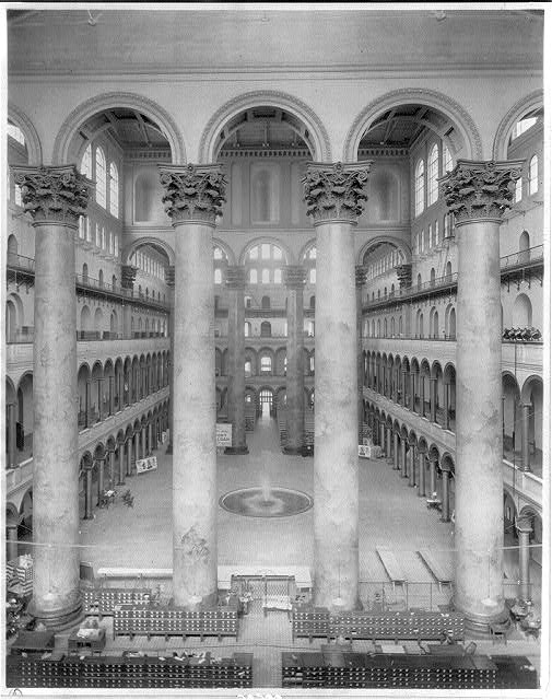 Old Pension Office Building, Washington, D.C.: interior - court, 1921