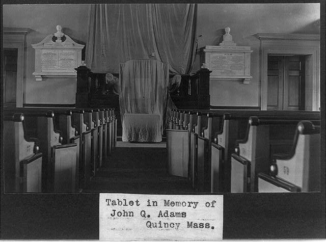 Tablet in Memory of John Q. Adams, Quincy, Mass.