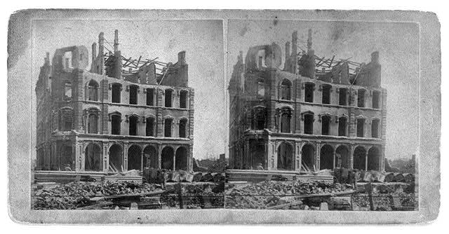 [Ruins of Tribune House, after the great fire of Oct. 1871, Chicago]
