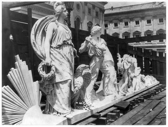 Pediment sculpture, U.S. Capitol