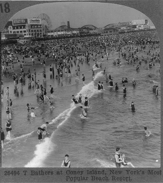 Bathers at Coney Island, New York's Most Popular Beach Resort