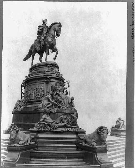 [George Washington, monument in Fairmount Park, Philadelphia - full, on horseback]