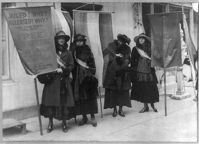 Suffragettes Picketing in N.Y.C. From Washington