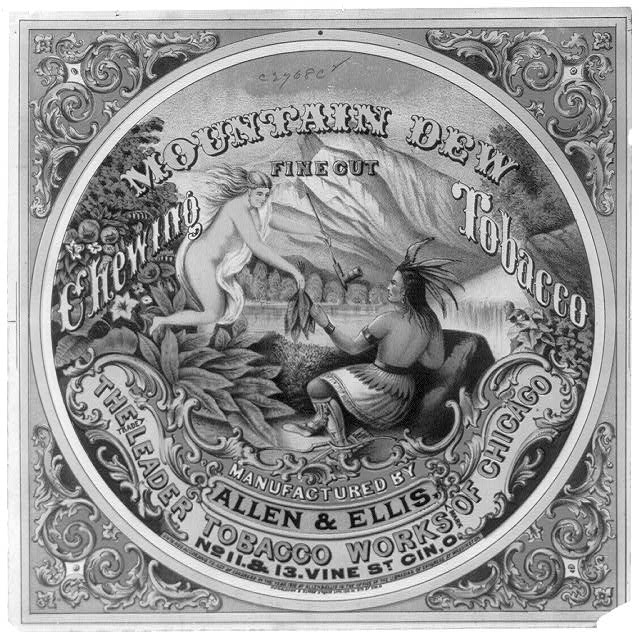 Mountain Dew fine cut chewing tobacco Manufactured by Allen & Ellis, the leader tobacco works of Chicago /