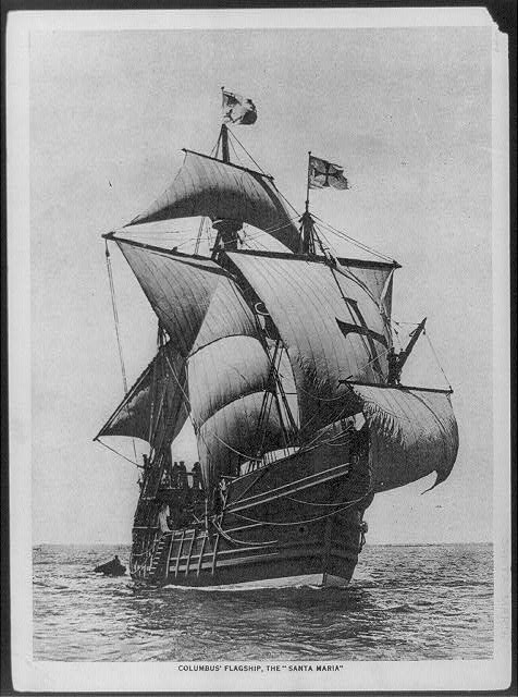 [Columbus' Flagship, the SANTA MARIA]