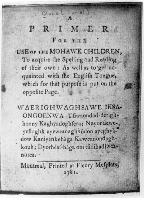 [Title page with full title in both English and Mohawk]