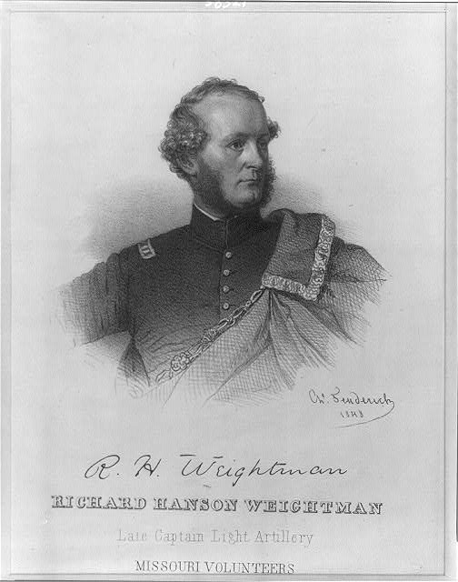Richard Hanson Weightman, Late Captain Light Artillery Missouri Volunteers
