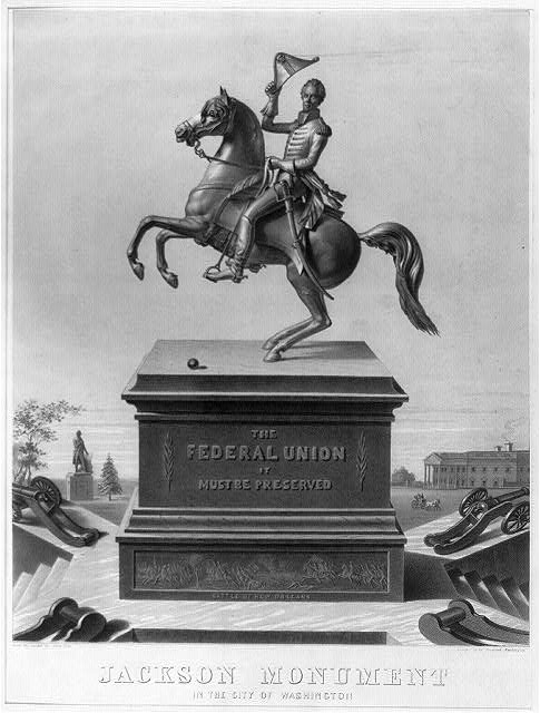 Jackson Monument in the city of Washington