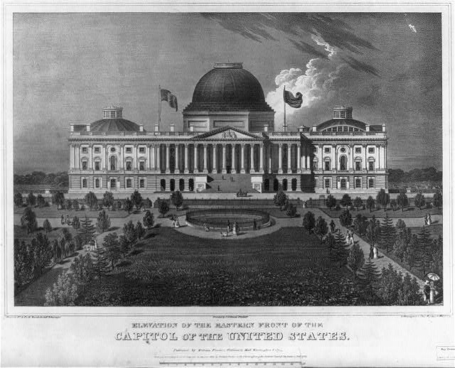 Elevation of the eastern front of the Capitol of the United States