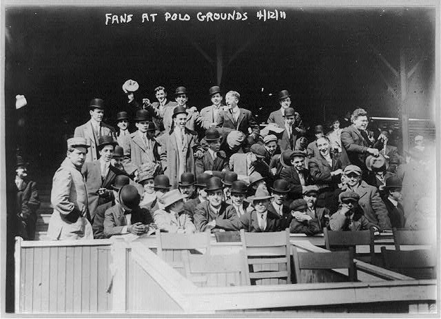 Baseball fans - at Polo Grounds, N.Y. April 12, 1911