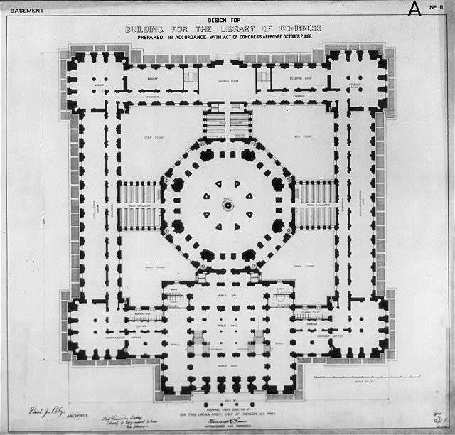 [Library of Congress, Washington, D.C. Basement plan, A series]
