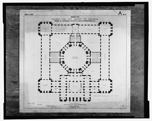 [Library of Congress, Washington, D.C. First story plan, A series]