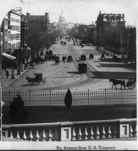 Pa. Avenue from U.S. Treasury, Washington, D.C.