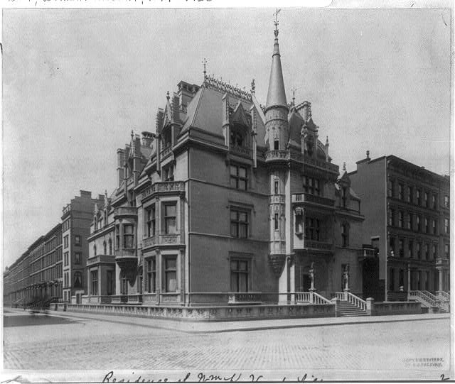 Vintage nyc photography new york city in the gilded age for Old new york mansions