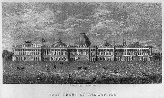 East front of the Capitol ca. 1854