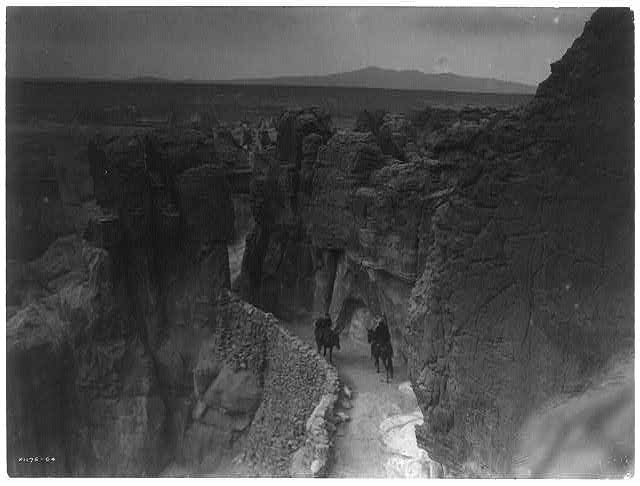 Old trail at Acoma