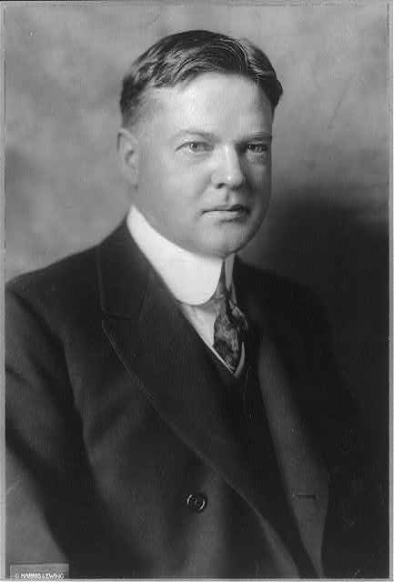 [Herbert Hoover, head and shoulders portrait, as a young man, facing right]
