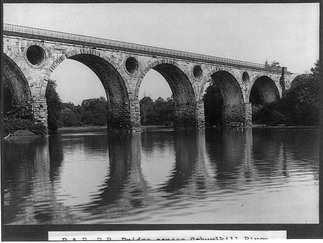 P. & R. Railroad bridge across Schuykill River near Tuckerton, Penna.