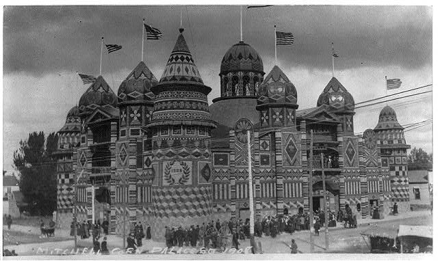 [The Corn Palace, built from 3500 bushels of ear corn, Mitchell, South Dakota]