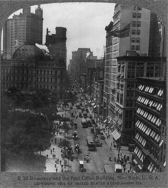 Broadway and the Post Office Building, New York City