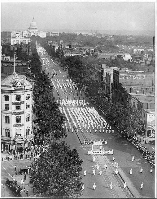 Ku Klux Klan parade, Washingotn, D.C., on Pennsylvania Ave., N.W. [bird's-eye view]