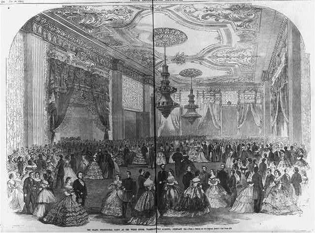 The grand [Lincoln] presidential party at the White House, Washington, D.C. February 6th [1862]