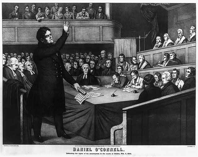 Daniel O'Connell - defending the rights of his countrymen in the courts of Dublin, Feb. 4, 1844
