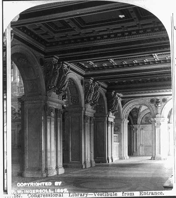 Congressional Library - vestibule from entrance