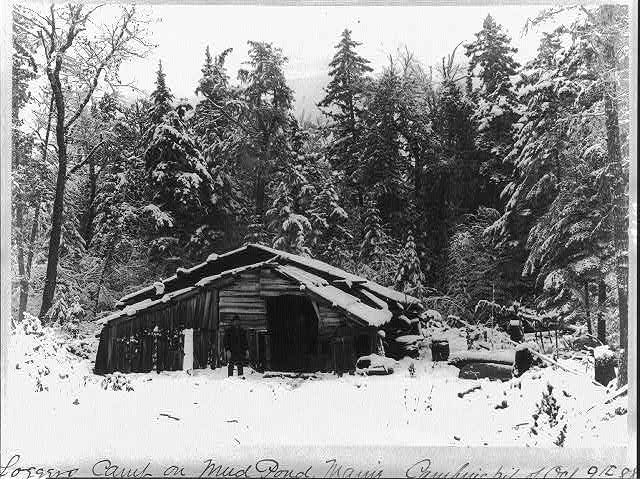 Loggers Camp on Mud Pond