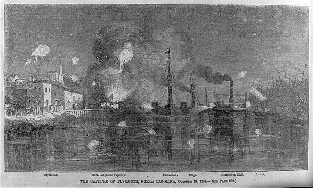 The capture of Plymouth, North Carolina, October 31, 1864